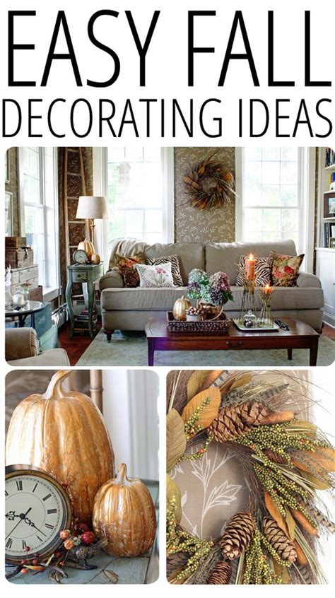 Fall Giveaway Ideas - easy fall decorating updates and a giveaway fall wreaths decorating your home and