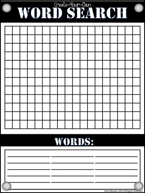 4 Letter Words Made From Empty word search template freebie for spelling phonics or