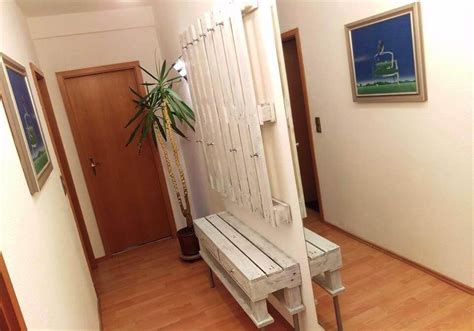 White Entryway Bench And Shelf Pallet Storage Ideas For The Entrance