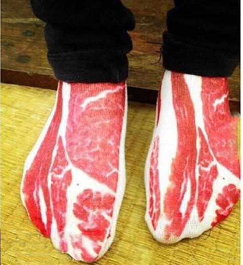 ate sock bacon socks look enough to eat realfunny
