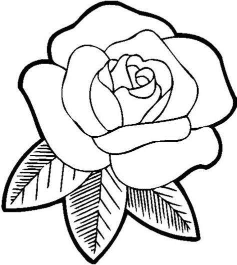 imagenes de rosas faciles dibujos de flores para colorear