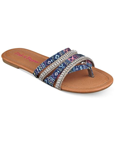 pink and blue sandals pink and pepper pink pepper solace flat sandals in