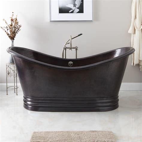copper freestanding bathtubs 66 quot batora double wall copper freestanding tub bathroom