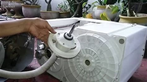 cara ganti gearbox mesin cuci 2 tabung polytron primadona