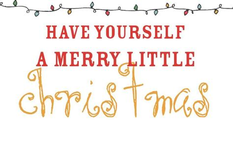 little printable christmas cards free have yourself a merry little christmas printable