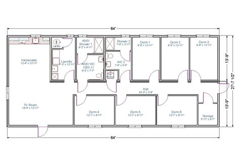 bunk room floor plans bunkhouse tlc modular homes