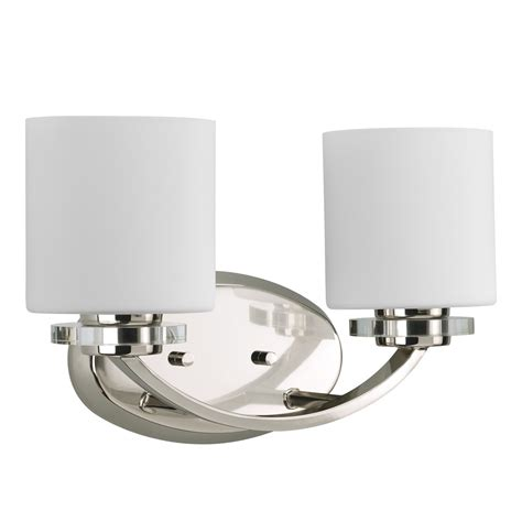 Polished Nickel Bathroom Lighting Progress Lighting Nisse 2 Light Bath Vanity Light In Polished Nickel L Brilliant Source Lighting