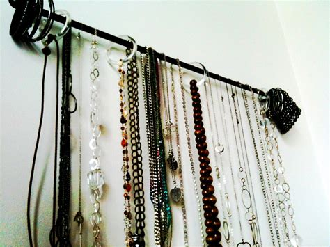 unique curtain hanging ideas weekend project organize your jewelry home decor 518