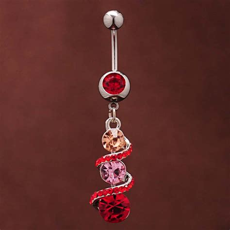 spiral belly bars navel rings piercing jewelry