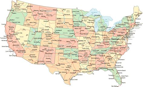 maps of the us map of continental united states lower 48 states