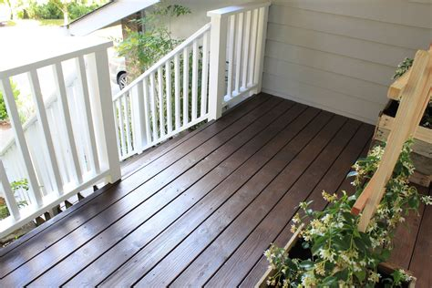 behr semi padre brown behr solid white railings