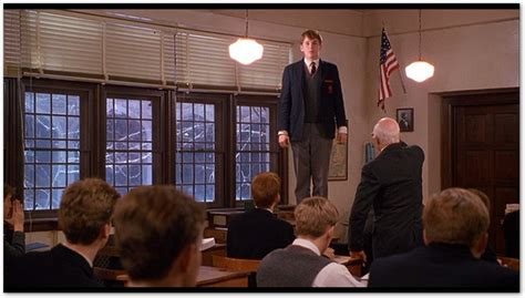 What Will Your Verse Be Movie Review On Dead Poets Dead Poets Society Standing On Desks