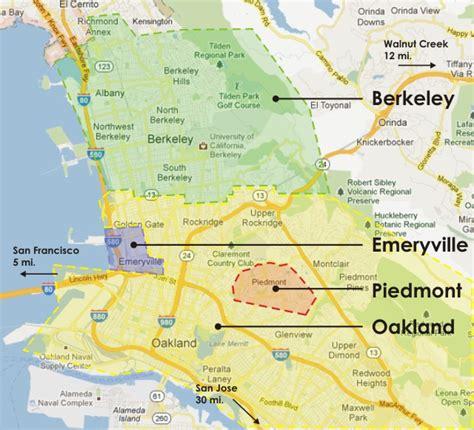 map of oakland california neighborhoods neighborhoods in oakland berkeley piedmont ca real