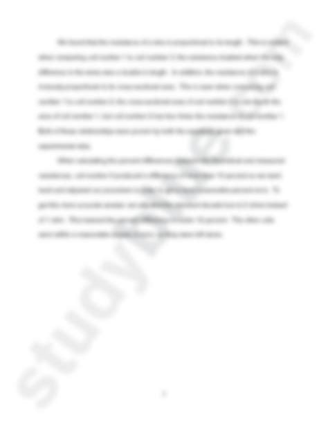 wheatstone bridge lab report conclusion wheatstone bridge physics 231 with mannella at of tennessee knoxville studyblue