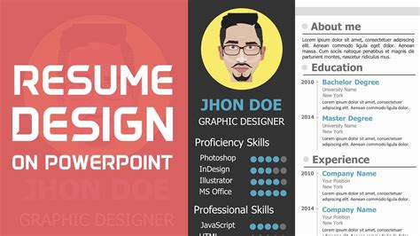 Resume Building Tips Ppt resume on powerpoint resume ideas