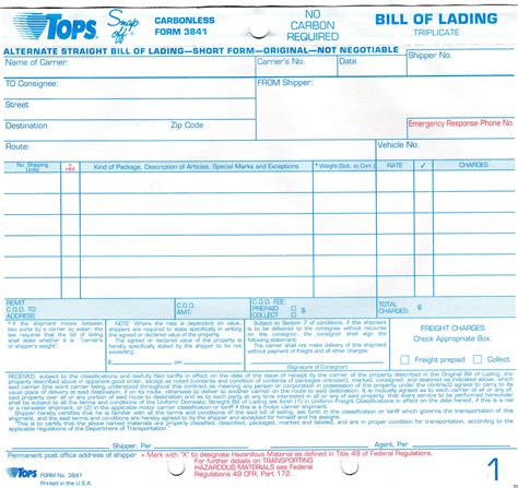 vics bill of lading template bill of lading form free free business form templates