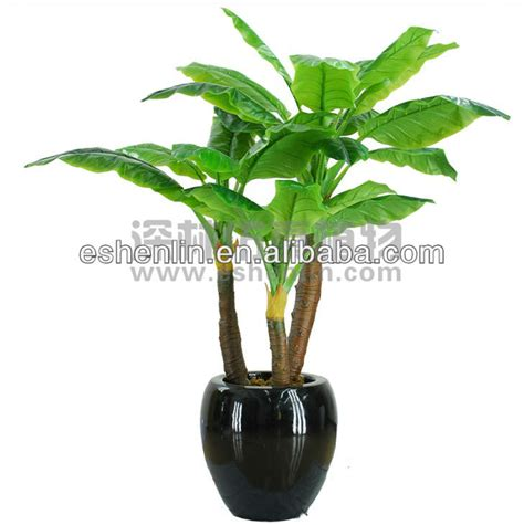 cheap indoor plants two trunks big leaf cheap artificial plants indoor plants