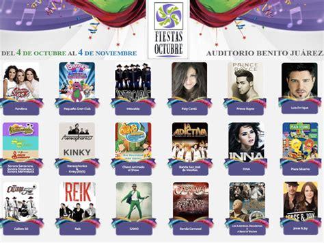 octubre fallecidos artistas 2016 programa de conciertos fiestas de octubre 2013 gu 237 a