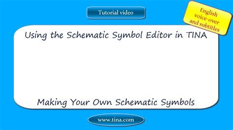 Tina Industrial Version 10 User License Standard using the schematic symbol editor in tina your own schematic symbols