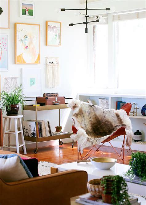 mid century inspired living room