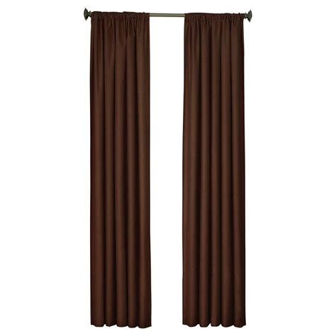 blackout curtains home depot eclipse kendall blackout chocolate curtain panel 95 in