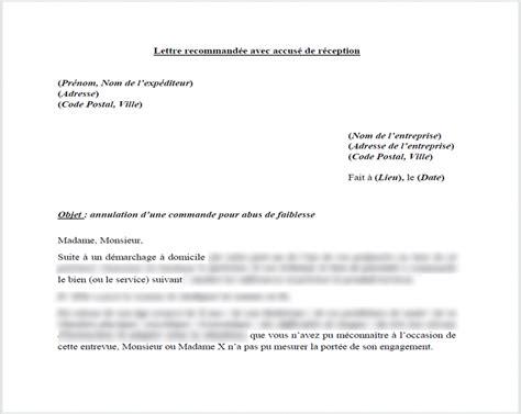 Exemple De Lettre Je Soussigné Annulation De Commande Pour Abus De Faiblesse Le Droit Pour Moi
