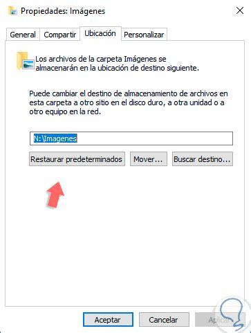 mis imagenes windows 10 mover carpeta usuario descargas mis documentos im 225 genes