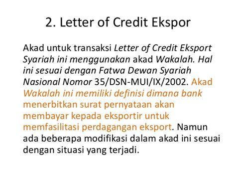 Bentuk Letter Of Credit letter of credit atau l