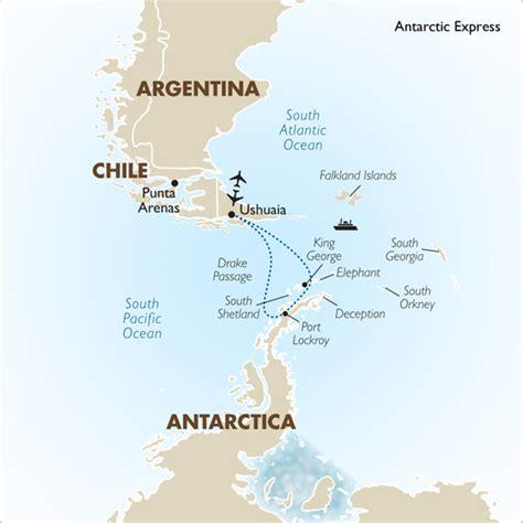 south america map passage antarctica tours antarctica express punta arenas goway