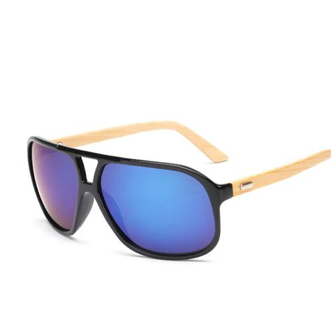 flat top bamboo sunglasses vintage style brands