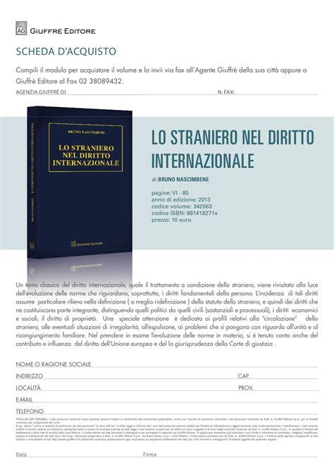 lo straniero testo straniero e diritto internazionale un volume per