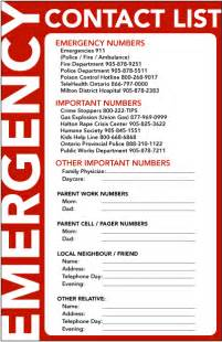 Emergency Call List Template Summer Is Almost Here Tips On Leaving For Vacation