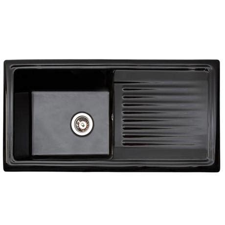 black ceramic kitchen sinks reginox traditional black ceramic 1 0 kitchen sink and