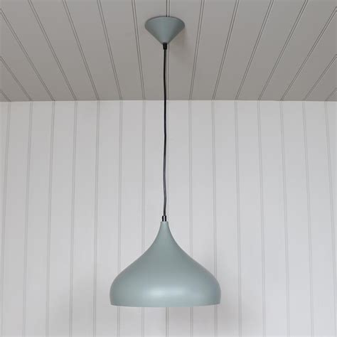 Fitting A Ceiling Light Grey Metal Dome Pendant Ceiling Light Fitting Melody Maison 174