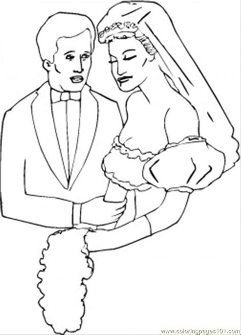 bride and groom coloring pages coloring home