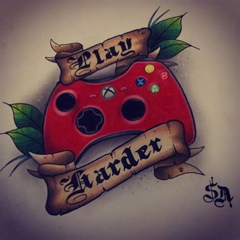 xbox tattoo ideas adamson tattoodesign xbox