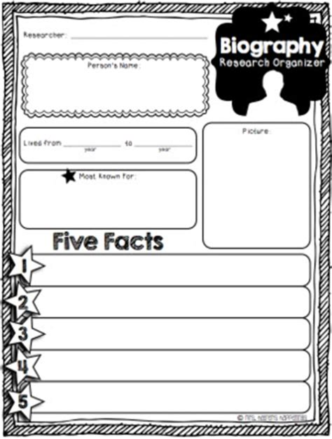 biography report form organizer mrs heeren s happenings mini biography organizer