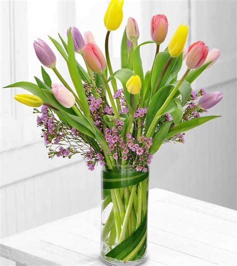 tulips arrangements color rush tulip bouquet flower co
