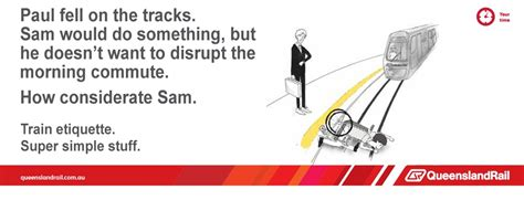 Queensland Rail Memes - sam just doesn t care queensland rail etiquette posters