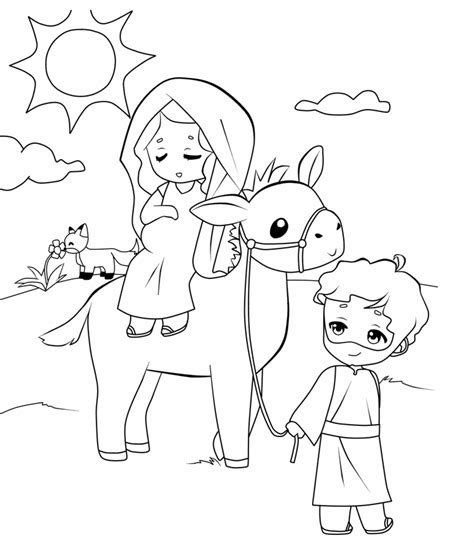 mary and joseph travel to bethlehem coloring pages mary joseph travel bethlehem coloring page coloring pages