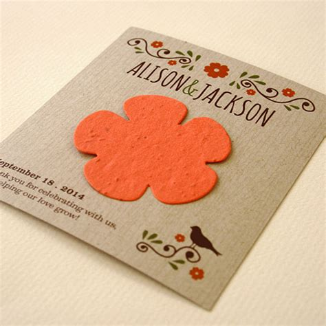 How To Make Seed Paper Favors - wildflower rustic wedding favor plantable seed wedding