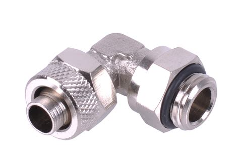 Compression Fitting Nepel Kompresi Water Cooling Block Watercooling 10 8mm 8x1mm compression fitting g1 4 90 176 revolvable silver nickel 10 8mm compression