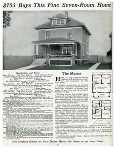 American Foursquare House Plans The Manor 1916 House Plans