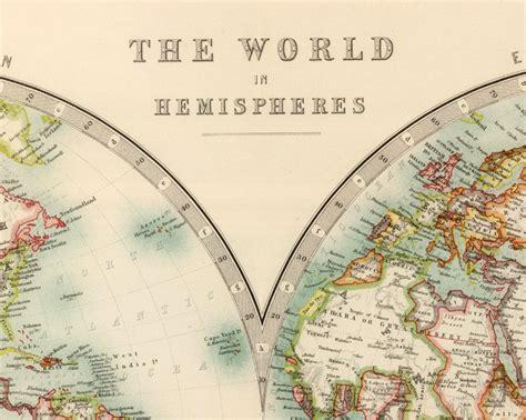 world map atlas vintage world map   hemispheres