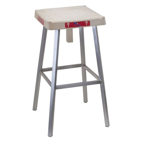 What Does Stool by Authentic Baseball Base Bar Stool The Green