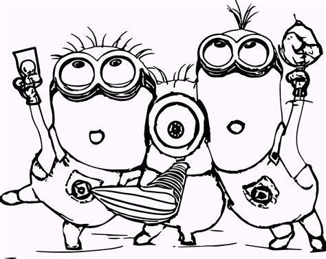 coloring pages minions cute 11 cute minion coloring pages
