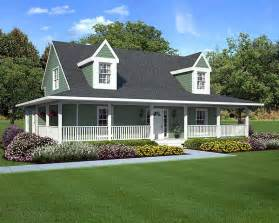 Farmhouse Plans With Porch House Plans Wrap Around Porch House Plans Amp Home Designs