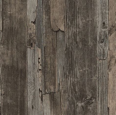 french provincial rustic timber wood effect wallpaper in dark grey brown 10m ebay