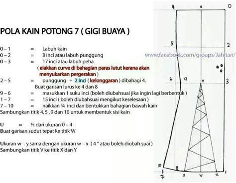 teknik menjahit jubah kembang payung pola jubah gigi buaya hairstylegalleries com