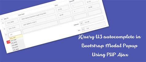 tutorial autocomplete bootstrap jquery ui autocomplete in bootstrap modal popup using php ajax